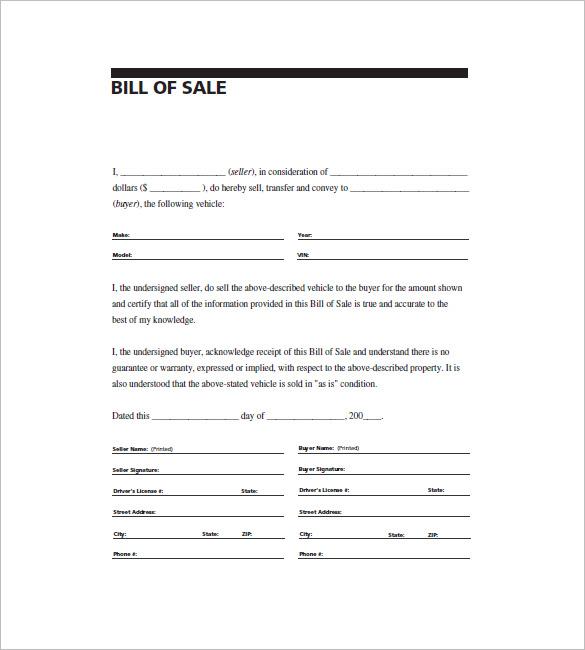 general bill of sale word template akba katadhin co