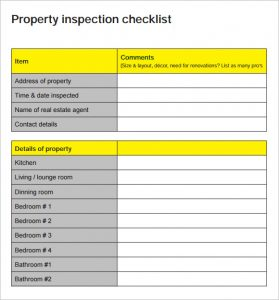 printable home inspection checklist for buyers property inspection checklist