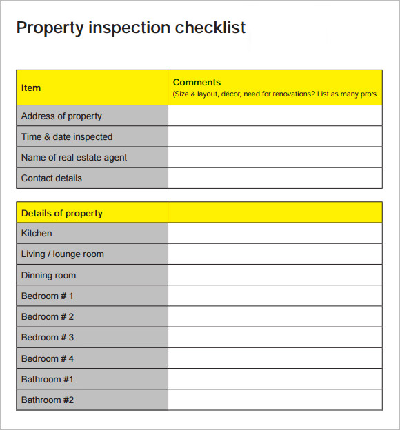 Printable Home Inspection Checklist For Buyers  Template Business