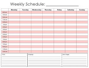 printable hourly schedule weekly calendar by hour printable hourly daily calendar template kvhsro
