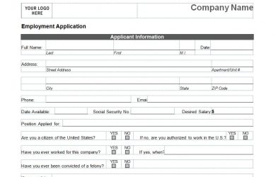 printable job applications printable job application