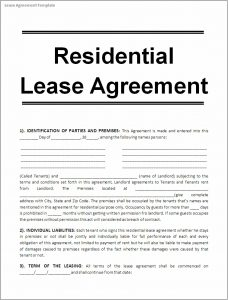 printable lease agreement lease agreement template