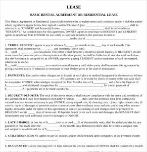 printable lease agreement printable house rental agreement