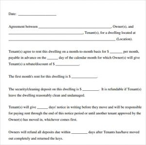 printable lease agreement printable rental agreement template