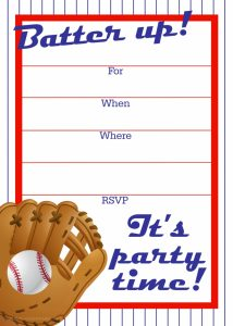 printable menu template baseball ticket invitation template best images of free baseball printable invitation templates