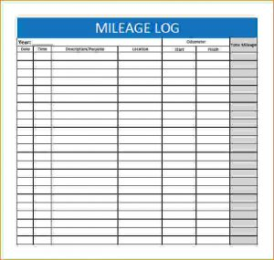 printable mileage log mileage tracking template mileage log template free