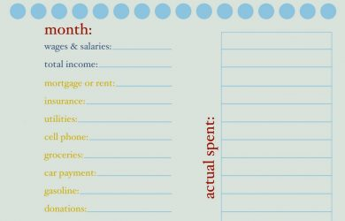 printable monthly budget template monthly budget