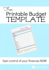 printable monthly budget template monthly budget template picture