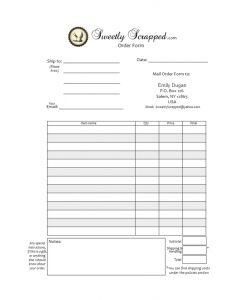 printable order form template cupcake order form printables