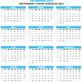 printable perpetual calendar calendario chile con feriados y fechas especiales