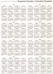 printable perpetual calendar perpet