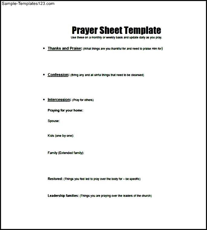 Strange Printable Prayer List Template Business Download Free Architecture Designs Scobabritishbridgeorg
