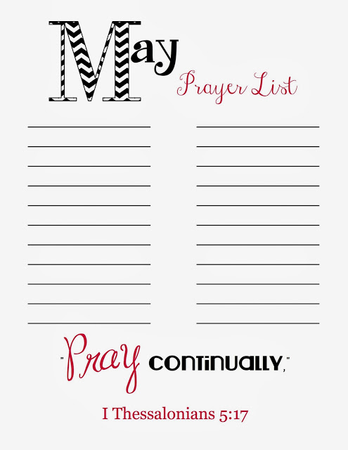 printable prayer list