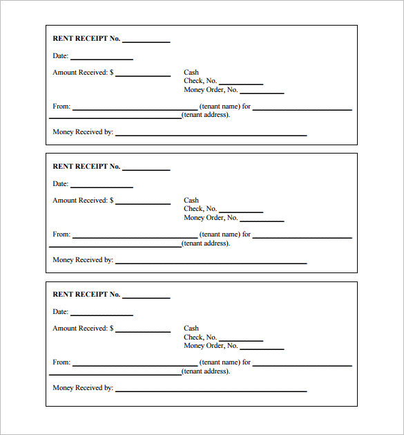 printable receipt template