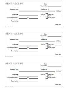 printable rent receipt free printable rent receipt