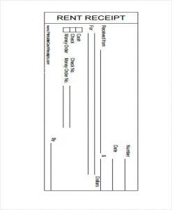 printable rent receipt printable receipt for rent payment