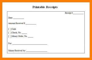 printable rent receipts blank receipts receipts