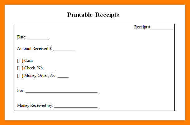 printable rent receipts