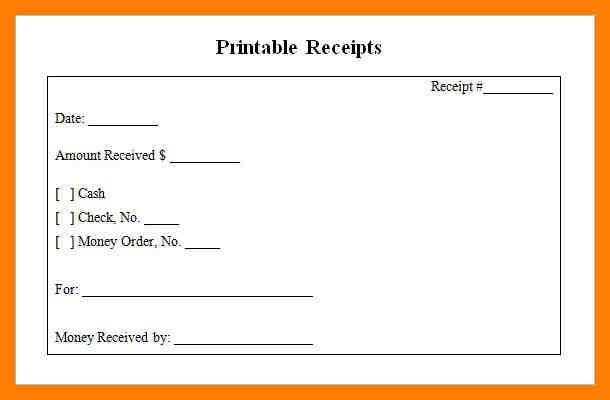 printable rent receipts