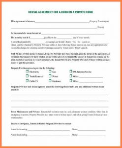 Printable Rental Agreement Private Landlord Tenancy Agreement Template Room Rental  Agreement In Private Home Pdf Download  Printable Rental Agreement Template