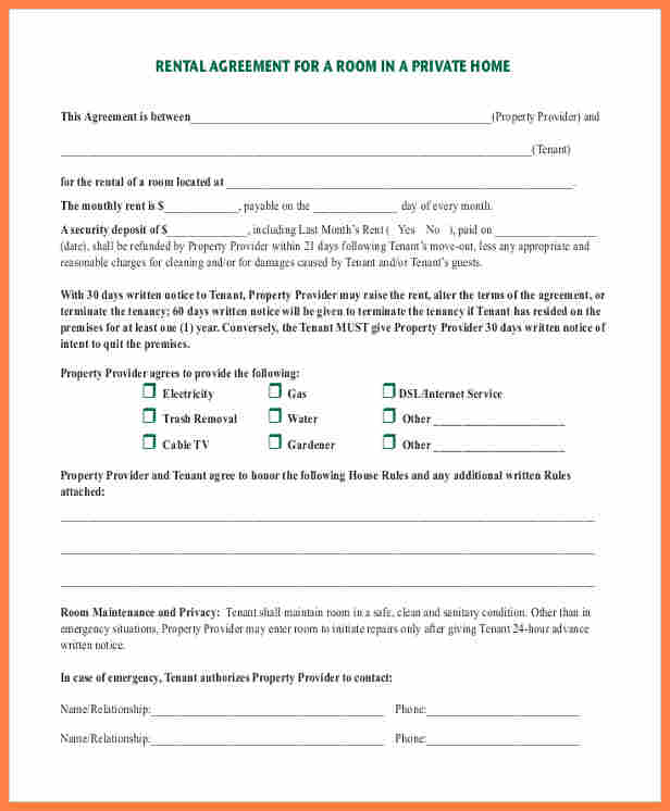 Printable Rental Agreement  Printable Rental Agreement Template
