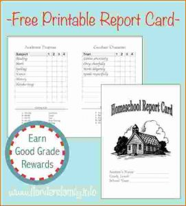 printable renters receipt homeschool report card template report card graphic