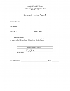 printable renters receipt sample medical release form