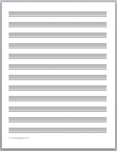 printable staff paper free music staff paper
