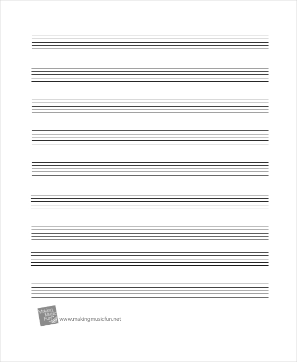 It's just a graphic of Amazing Music Staff Paper Printable