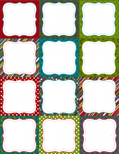 printable tag templates christmas labels blank
