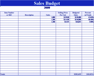 printable tag templates sales budget