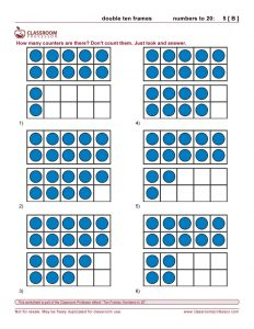 printable ten frames worksheets ten frames