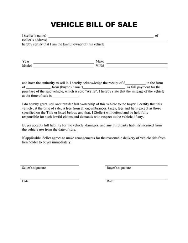 Template Business  Car Sale Agreement Sample