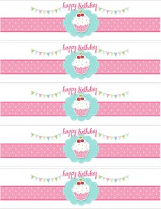 printable water bottle labels cupcake water bottle labels