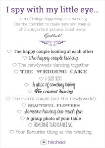 printable wedding guest list hitched i spy