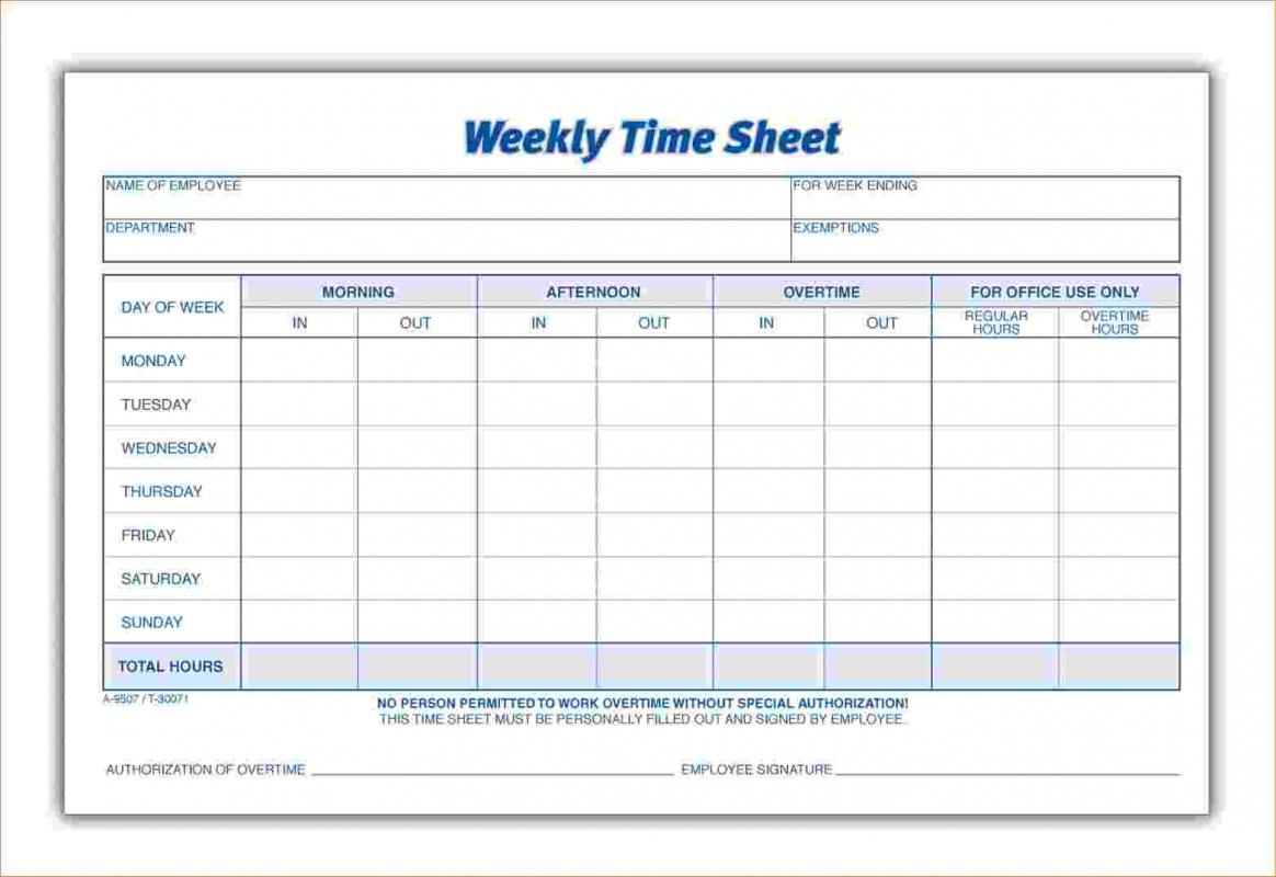 printable weekly time sheets