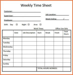 printable weekly time sheets time sheet template weekly timesheet printable