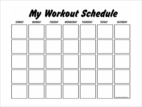 Printable Workout Log  Template Business