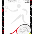 printed newsletter template tennis letterhead