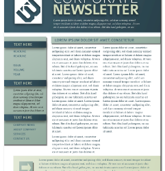 printed newsletter templates newsletter template print