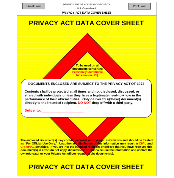 privacy act statement