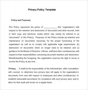 privacy policy example example privacy policy template download