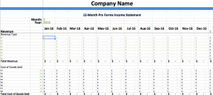 pro forma income statement template pro forma income statement