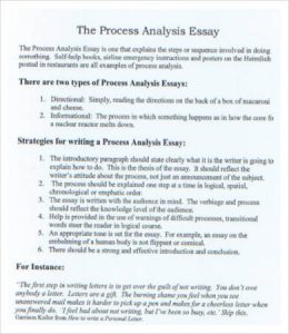 process analysis essay example sample process analysis essay