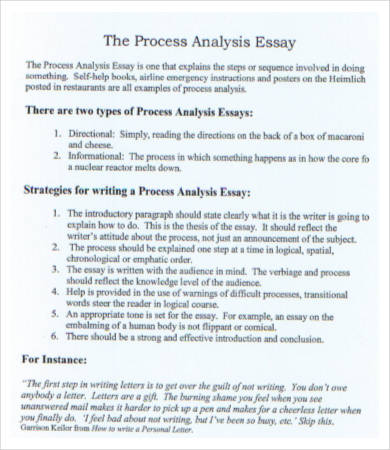 process analysis essay example