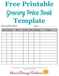 product catalogue templates grocery price book printable