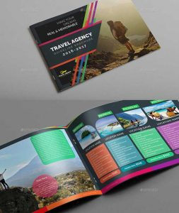 product catalogue templates travel agency guide catalog brochure template