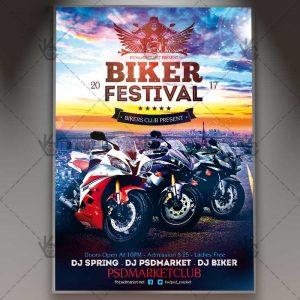 product flyer template biker festival flyer psdmarket