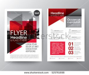 product flyer template stock vector abstract red geometric background for poster brochure flyer design layout vector template