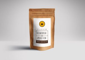 product label templates free coffee pouch mockup psd